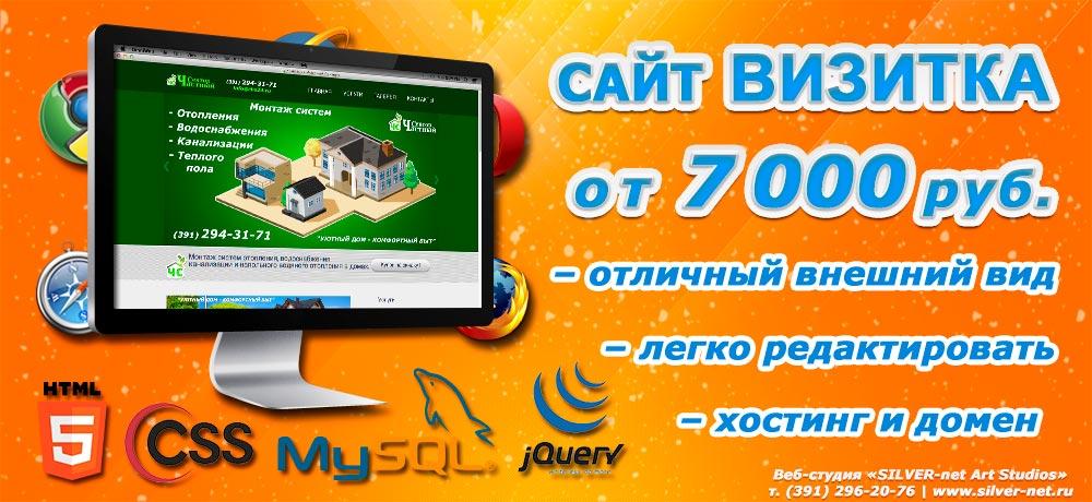 3aa4b418ea53a Создание недорогих сайтов - Сайт «ВИЗИТКА» Красноярск